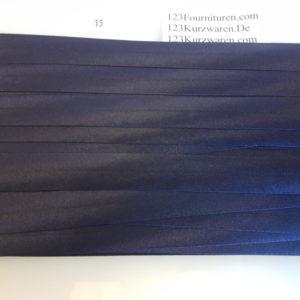 Biaisband Satijn Donker Blauw 15