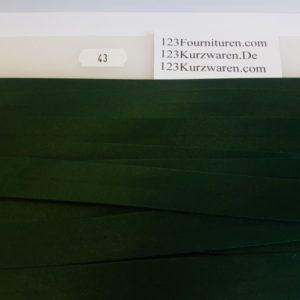 Biaisband Satijn Donker Groen 43