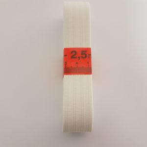 Taille elastiek Pyjama 2,5 cm wit