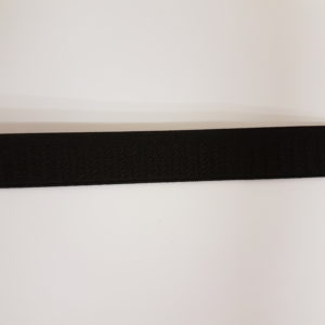 Taille elastiek anti kreuk 2,5 cm zwart