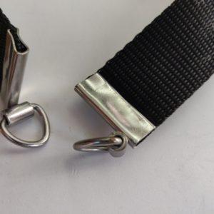 Tassenband einde zilver