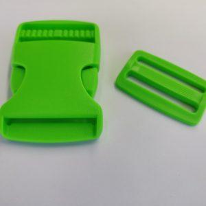 Klikgesp 4 cm Lime Groen