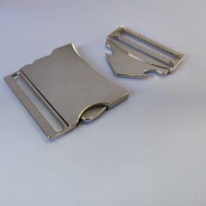 Klikgesp metaal 40 mm zilver