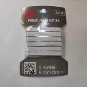 kaartjes elastiek 8mm wit
