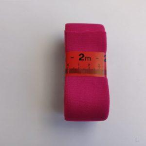 Elastiek 4cm zacht Effen hard roze