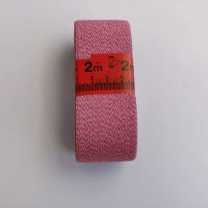 Elastiek 4cm zacht Effen melange licht roze