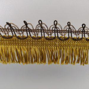 franje 4 cm met bandje goud