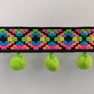 Bolletjesband variabele kleuren fel groen