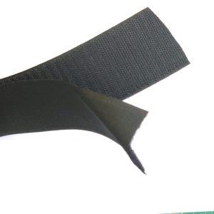 Klittenband 5 cm opnaaibaar zwart